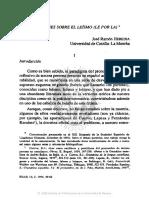 Artículo 3. Precisiones Sobre El Leísmo Le Por La, José Ramón Heredia