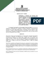 Resolução 02-2006 CONSUNI-UFBA (REGULAMENTA O PRIMERIO CONCURSO PARA O ICADS)