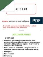 Aula3_2020 Materiais de Construção