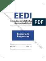 Castro Solano, A. y Fernández Liporace, M. M. (Eds.) (2017). La evaluación psicológica en niños.- Anexo EEDI. Registro de Respuestas