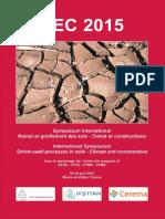 Actes LCPC ACTSEC15 Symposium Retrait Gonflement Argile 2015