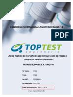 16 17 Laudo Técn Insp Seg - Vaso de Pressão Atlas Copco Brasil 2013, identificação 1722