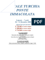 TURCHIA - SPECIALE PONTE IMMACOLATA