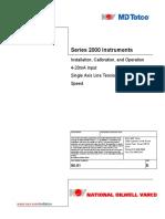 MD Totco Series 2000 Instruments Installation, Calibration, & Operation