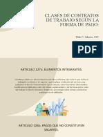 CLASES DE CONTRATOS DE TRABAJO SEGÚN LA FORMA.