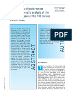 Optimization of performance through kinematic analysis of the different phases of the 100 m