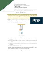 04 Quarta Lista Trabalho e Energia Mecanica