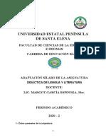 SÍLABO DIDACTICA DE LENGUA Y LITERATURA