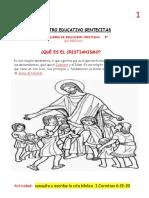 TALLER DE EDUCACION CRISTIANA GRADO 3ª  SEGUNDO PERIODO