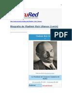 Biografía de Vladimir Ilich Ulianov