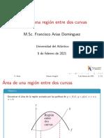 Clase11.1 - Área Entre Dos Curvas - UA