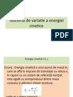 Teorema de variatie a energiei cinetice+energia potentiala