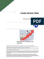 How to… Create Generic Delta