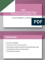 Indicadores Programas Presupuestales ENDES 2019