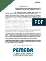 Solicitada FEMEBA - Sr. Afiliado de Ioma