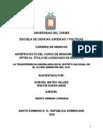 FORMATO DE ANTEPROYECTO DE INVESTIGACIÓN