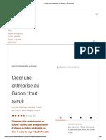Créer une entreprise au Gabon _ tout savoir