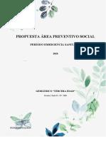 PROPUESTA PERÍODO EMERGENCIA SANITARIA ÁREA PREVENTIVO SOCIAL