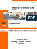 Degrigny, C. Stabilisation CH Artefacts. 2010
