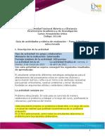 Guía de actividades y rúbrica de evaluación - Paso 3 - Problema seleccionado