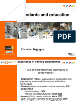 Degrigny, C. Standards and Education. 2010