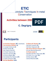Degriny, C. Electrochemical Techniques Metal Conservation. 2010