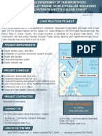 FDOT flyer of S.S. Jolley bridge repairs on Marco Island - 2021