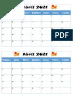 calendarios abril