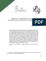 Raúl Rodríguez. Rebeldes Campesinos. Notas Sobre el Estudio del Banjidade en América Latina (Siglo XIX)