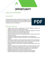 Career Opportunity- Sales Administrator-260321