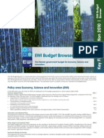 EWI Budget Browser Key Figures 2010