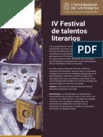 IV Festival de Talentos Literarios EIB 2021