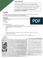 ACTIVIDAD DE LAS MATERIAS BIOLOGÍA - FÍSICO QUÍMICA - MATEMÁTICA