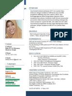 Contih format CV yang baik