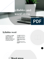 Syllable and Word Stress