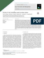Desarrollo de un modelo de consumo de combustible para vehículos híbridos