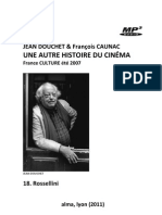 DOUCHET, Jean & François CAUNAC • Une autre histoire du cinéma (France Culture, 2007) • 18. Rossellini (+mp3)