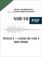NSR-10 - Titulo E