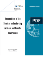 Proceedings of the Seminar on Leadership in Ocean and Coastal Governance