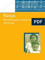 Measure DHS Kenya Summary