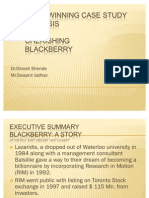Blackberry Case Study Analysis