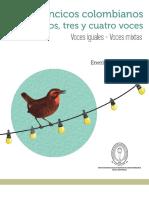 Villancicos Colombianos Dos Tres Cuatro Voces