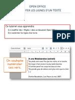 Open Office - Numéroter les lignes d'un texte