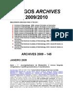 PRÉVIA ARTIGOS ARCHIVES 2009-10