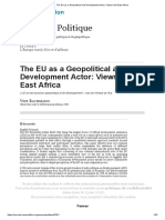 The EU as a Geopolitical and Development Actor_ Views From East Africa