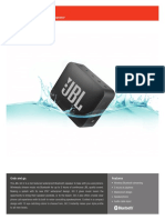 JBL GO2 Spec Sheet English