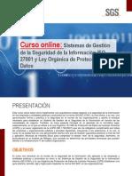 """Curso """"SGSI ISO 27001 y LOPD"""""""