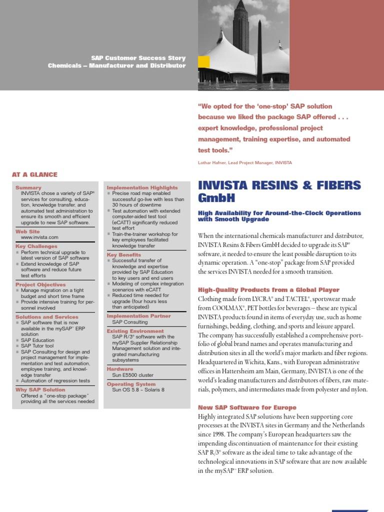 Invista Hattersheim success sap se business process