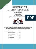 Programming for Problem Solving Lab Manual