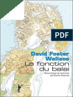 Wallace, David Foster - La Fonction Du Balai